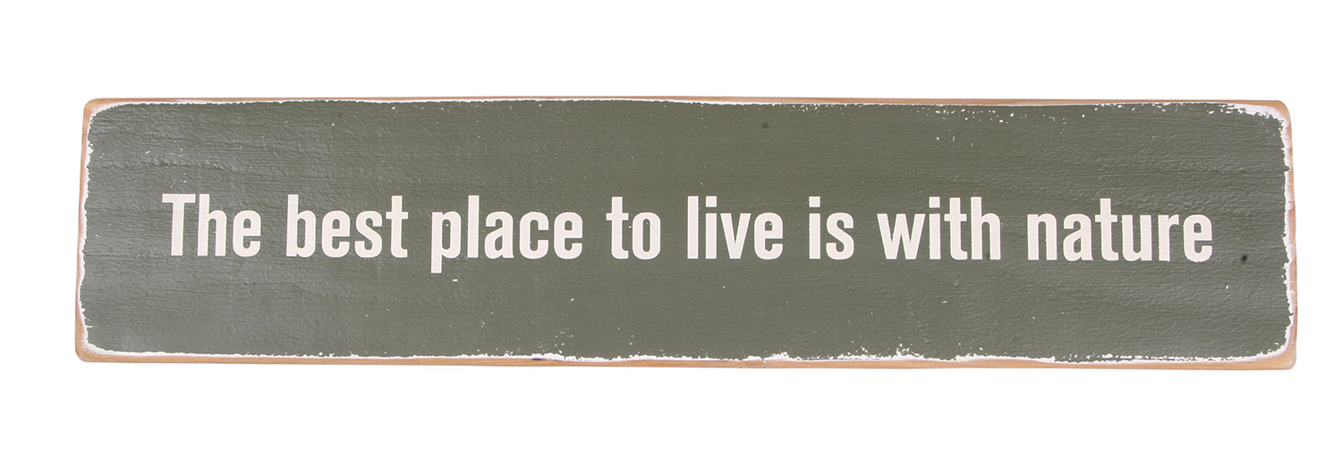 The Best Place to Live sign